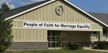 People of Faith for Marriage Equality banner, 2006